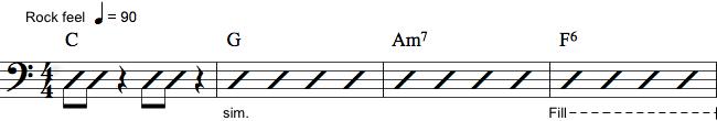 Notation af bas fils