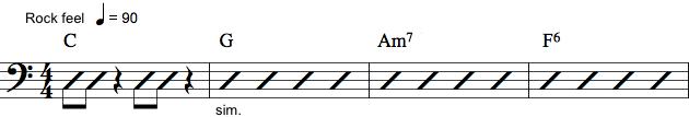Basnotation med rytmenoder