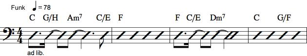 Becifring med rytme notation