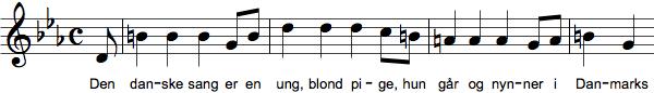 Den danske sang er en ung, blond pige