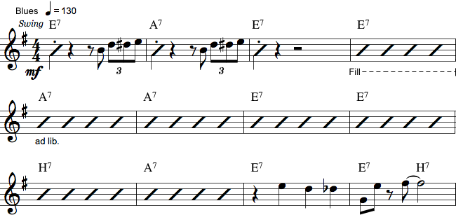 Reduceret guitarnotation