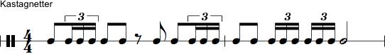 Notation af kastagnetter