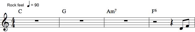 Klaver-spilleanvisning med pauser