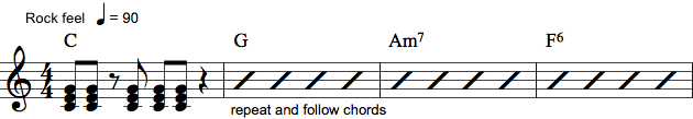 Klavernotation med noder