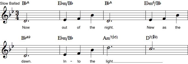 Melodi med becifring