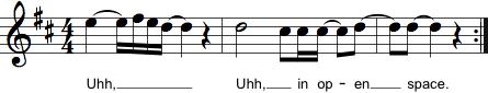 Sidste takt i et musikstykke med optakt