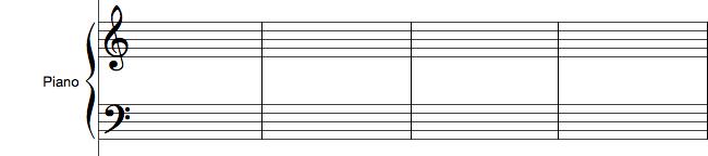 Akkolade i orkesterpartitur