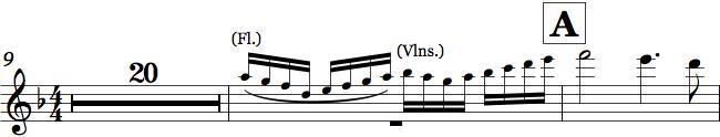 Cue i orkesterpartitur