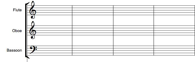 Klamme i orkesterpartitur