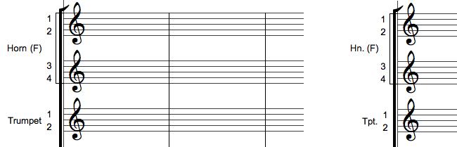 Navngivning af musikinstrumenter