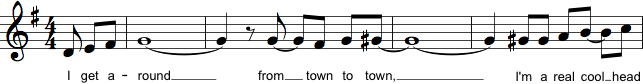 Sammenbinding af flere toner