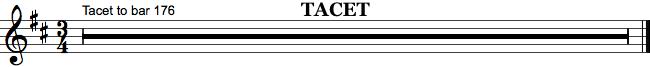 Tacet i orkesterpartitur