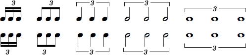 Notaton af trioler