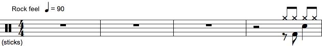 Tromme-spilleanvisning med pauser