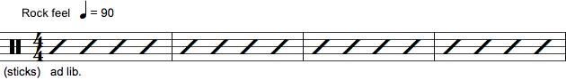 Skriftlig spilleanvisning til trommer