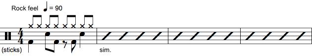 Trommenotation med noder