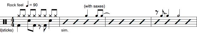 Notation af tromme markeringer