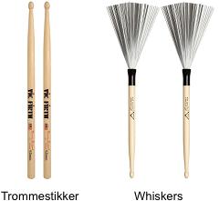Trommestikker, Whiskers, Rods og Køller
