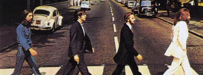 Abbey Road, 1969. Fra venstre: John Lennon, Ringo Starr, Paul McCartney og George Harrison.