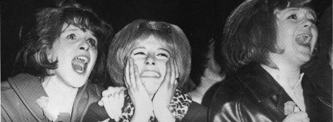 Skrigende Beatles-fans i Belfast ABC Cinema, 1963.
