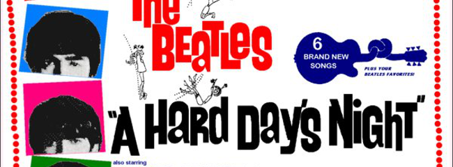 Filmplakat. A Hard Day's Night, 1964.