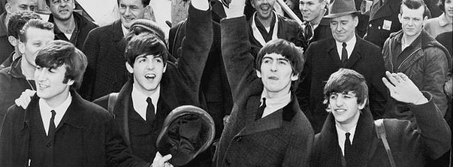 The Beatles ankommer til JFK Airport i New York, 1964.