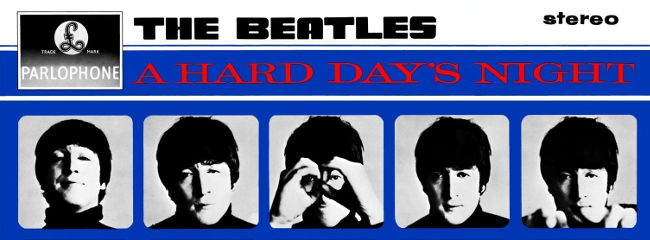 Albumcover. A Hard Day's Night, 1964.