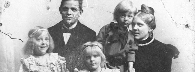 Familien Carl Nielsen, 1898.
