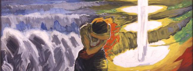Maleri af Willumsen. Efter stormen nr. 2, 1916.