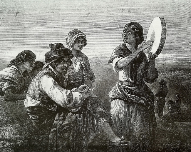 Gitanoer fra Andalusien. The Illustrated London News, 1854.