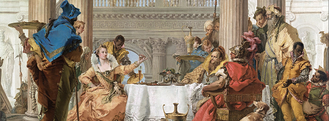 The Banquet of Cleopatra. Giambattista Tiepolo, 1743.