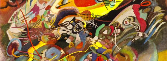 Composition VII. Ekspressionistisk maleri af Wassily Kandinsky, 1913.